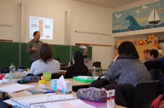 Suchtpräventionsprogramm mit Herrn Didam (Foto: BKBB | WK)